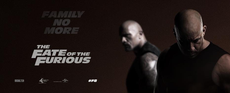 Fate of the Furious out 14/4